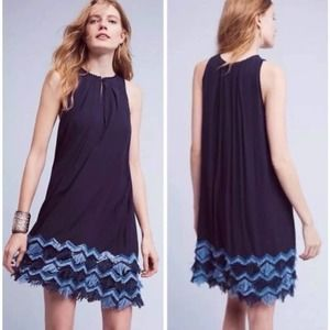 ANTHRO MAEVE A-Line Fringe Sequin Dress